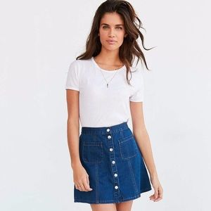 BDG Denim Button-Front Skirt from Urban Outfitters
